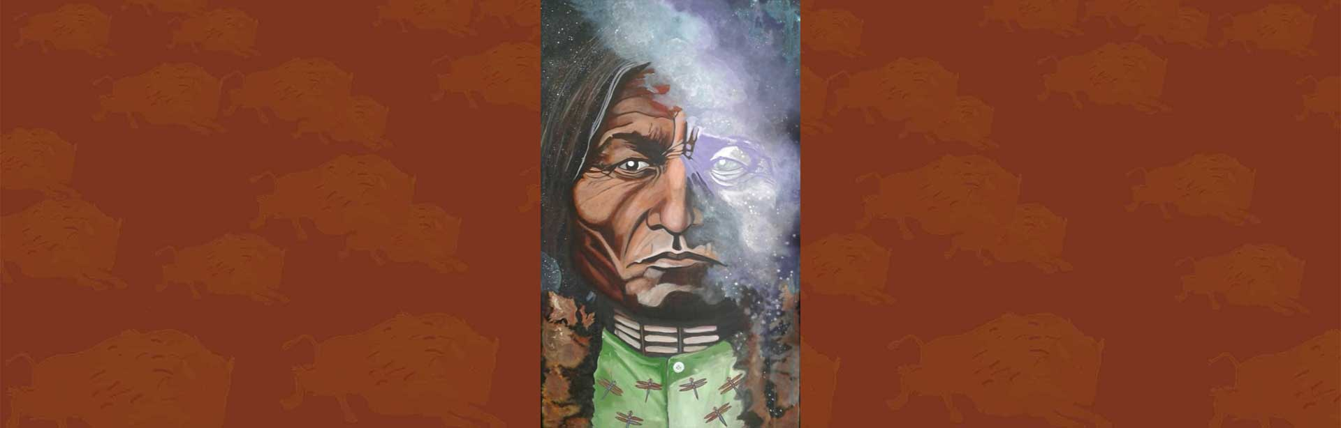 Portrait of Chief Sitting Bull by Lyle Miller, Sr.